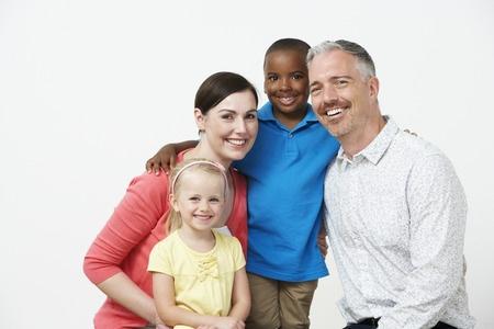 30937045 - studio portrait of pre school teachers with pupils